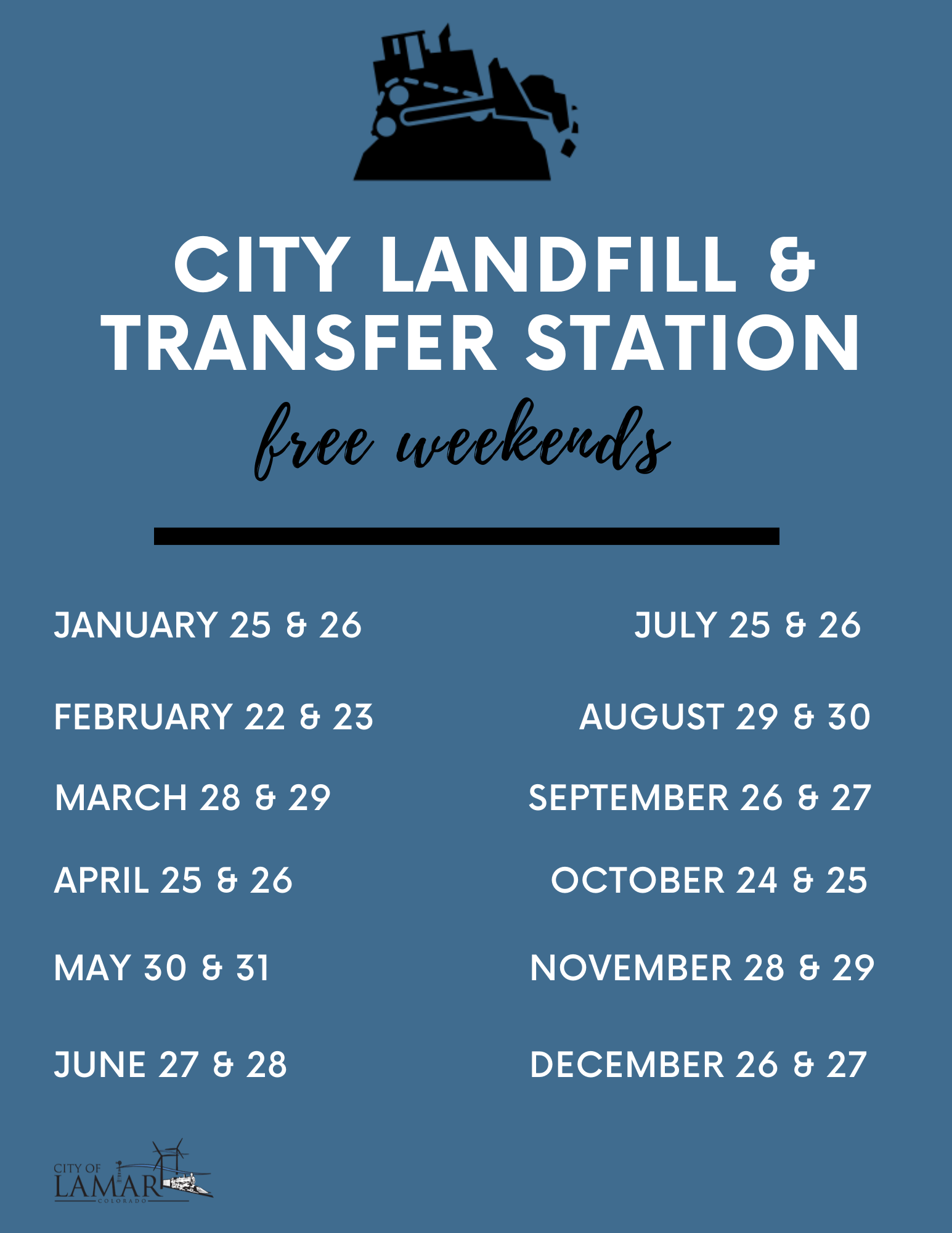 Free Weekend Hours at the Landfill & Transfer Station ...